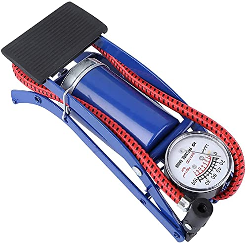 PMGCARES Steel Body Foot Pump for car | Air Pump for Motorcycle Car | High Pressure Foot Pump, Bike Motorbike Inflation Pump with Pressure Gauge, Foot Pedal Inflator