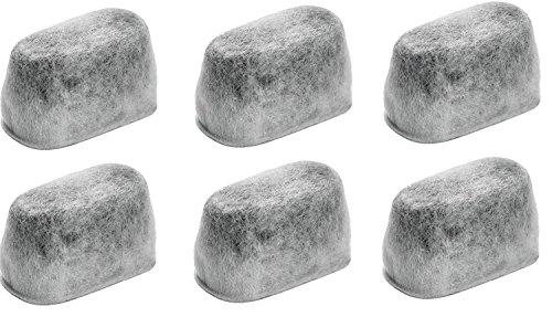 Nispira KCM11WF Ersatz-Kohle-Wasserfilterbehälter, 6 Stück, passend für KitchenAid-Kaffeemaschinen