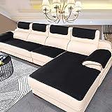 DANODA Sofa Abdeckung Für Ledercouch, Super rutschfeste Sofa Dämpfung Couch überwurf Für Haustiere, Sofa Möbel Protector-6mm Dicke/Verkauft in stück,Schwarz,80×180cm