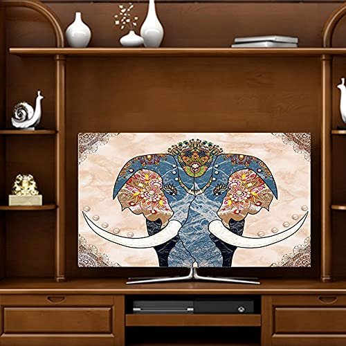 yuanyuanliu Cubierta De Polvo, Cubierta De Polvo De TV, Colgada para El Hogar 55 Pulgadas 43 Pulgadas TV LCD TV Cubierta DE TV 65 Pulgadas Paño A Prueba De Polvo (Color : E, Size : 47-50 Inch)