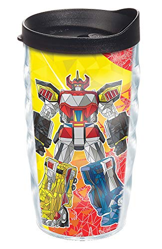 Tervis Power Rangers Made in USA Double Walled Insulated Tumbler, 10oz Wavy, Megazord