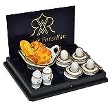 Unbekannt Set: Miniatur Frühstück mit Eier und Brötchen - für Puppenstube - Maßstab 1:12...