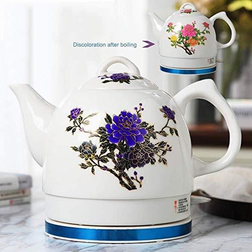 Gymqian Céramique Bouilloire Électrique Sans Fil Eau Teapot, Teapot-Retro 1L Jug, 1000W Eau Rapide Pour Le Thé, Le Café Rapide accessoires de cuisine/A