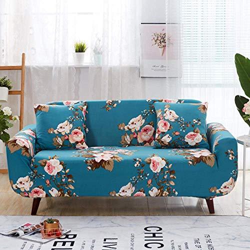 Lsqdwy Sofabezug 3-Sitzer Stretch Elastic Fabric Sofa Schonbezug Bedruckte Polyester Spandex Möbel Dekorative Soft Loveseat Couchbezüge Stuhl Protector Sofabezüge Blue Plum