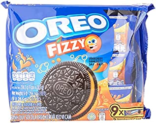 Oreo Oreo Fizzy Orange Limited Edition Sandwich Cookies Multipack, 9 x 28.5g