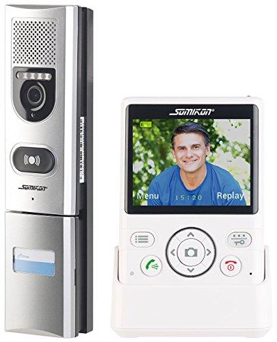 Somikon Tür Kamera: Funk-Türsprechanlage mit Video-Übertragung, Türöffnungsfunktion, 135° (Türsprechanlage mit Kamera)