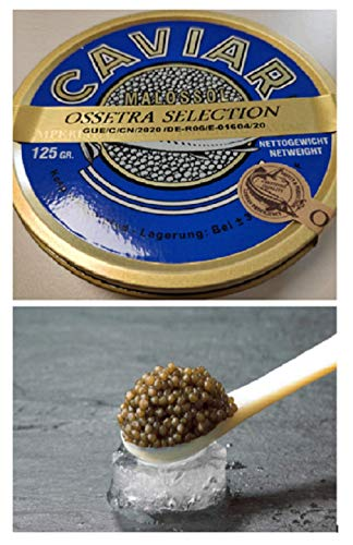 Kaviar Ossetra Osietra Selection (Acipenser Gueldenstaedtii) - 24-Stunden Expresslieferung - in 125, 250, 500 und 1000 GR-Verpackungen erhältlich. (100 GR)