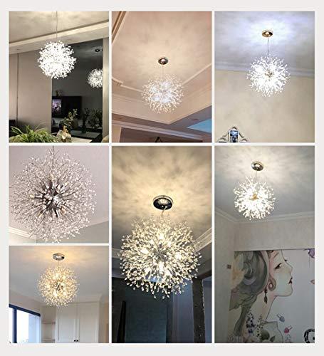 Dellemade Sputnik Kronleuchter 8-Licht Golden Luxuriöse Pendelleuchte für Schlafzimmer, Wohnzimmer, Esszimmer - 5