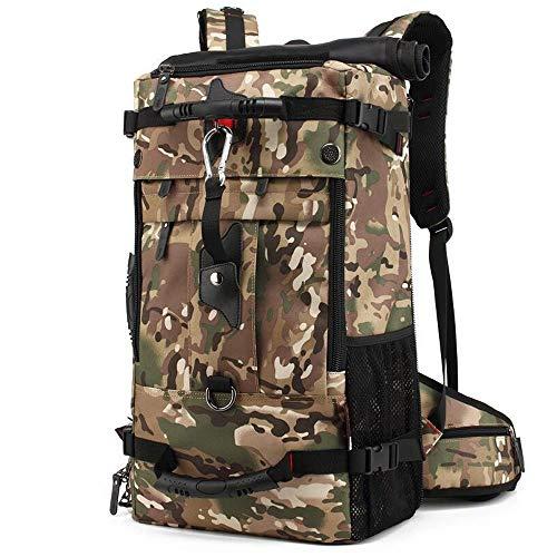 Hanggg Rugzak, reistas van Oxford-stof, outdoor-rugzak voor heren, grote capaciteit, multifunctionele trekkingtas 40L Camouflage