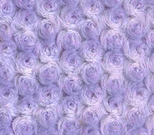 Minky Fabric Rosebud 58' Wide Sold by The Yard (Lavender)