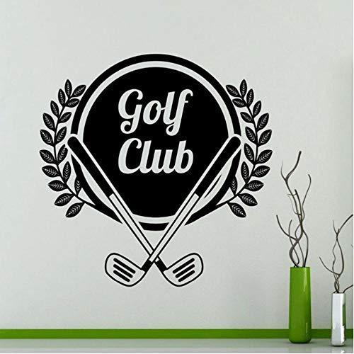 MRQXDP Muursticker Vinyl Sticker Sport Golf Club Patroon Laat Home Decor Gym Decoratie Raam Badge Slaapkamer Muurschildering Floor Art 57x57cm Adesivi Murali Papel De Parede
