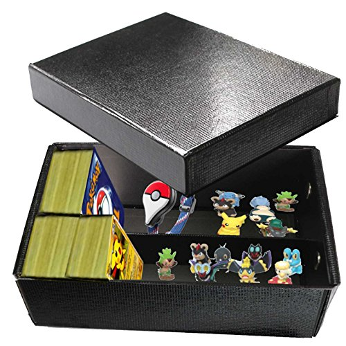 all4fit Empty Storage Foldable Box to Collect Your Pokemon Cards Holder, Figure, Pokemon GO Plus Wristband Watch (ONLY Empty Storage Box, Nothing Else in Box) image