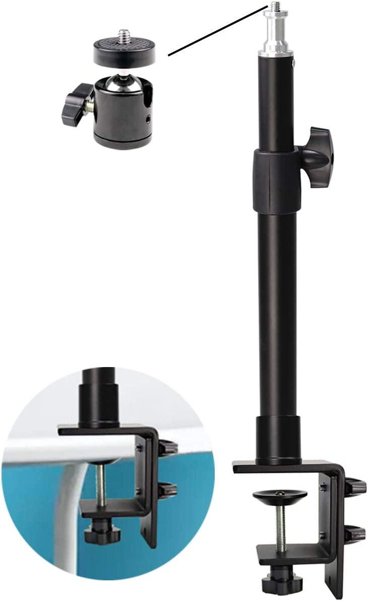 Online Outlet SALE limited product Desktop C-clamp Light Stand with 360° 1 Rotatable Ball Head