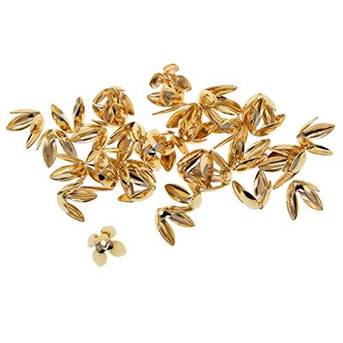 Baoblaze 50pcs Accessoires de Bijoux Réglable Fleur de Lys en Métal pour Fabrication de Colliers Bracelets Boucles d'oreilles