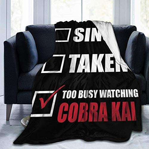 KOMOBB Cobra Kai - Manta de franela de forro polar, ligera, ultrasuave, cálida, apta para sofá