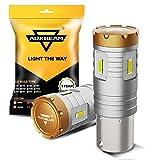Auxbeam 1156 LED Turn signal Light Bulbs 6500K 2400 Lumens 20W 1156 LED Bulb 1860 SMD Chips 12V LED 1156 Bulb Xenon White Reverse Light, Back Up Light, Tail Light, Fog Light, Brake light (Set of 2)