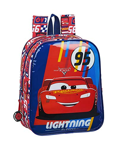 safta 612011232 Mochila guardería niño Adaptable Carro Cars, Multicolor