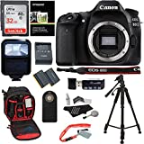 Canon EOS 80D Digital SLR Camera Body, 32GB Memory Card, Ritz Gear Camera Backpack, Camera Flash, Remote...