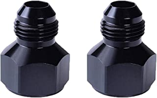 EVIL ENERGY Female AN8 to Male AN6 Flare Reducer Hose Fitting Adapter Black 2 Pcs