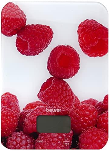 Beurer KS 19 Berry Küchenwaage (digitale Küchenwaage, mit Tara-Zuwiegefunktion, Sensortastenbedienung, 5 kg Tragkraft)