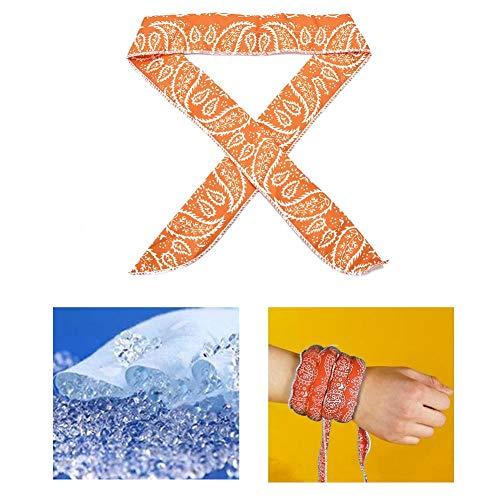 Erfula Sport EIS Kühlendes Halstuch Stirnband Schal Handgelenk Band, Kühl-Tuch, Multifunktions-Tuch,für Sport, Fitness, Reise, Yoga, Tennis, Wandern