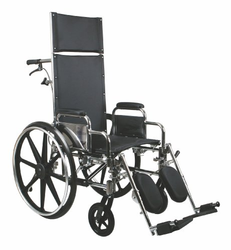 Reclining Wheelchairs, 18', Excel, Removable Desk Length Arm, Elevating Legrests
