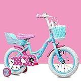 [page_title]-FYRS Hello Kitty Kinder Mädchen Fahrrad 14.12.16 Zoll, für 2 bis 3 Jahre, verschlüsselte Speichen, langlebiger Kohlenstoffstahlrahmen, geeignet für Geburtstagsgeschenke,Blau,12
