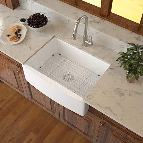 24 Farmhouse Sink White - Sarlai 24 Inch Small White Kitchen Sink...