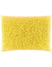 VABNEER Pellets de Cera de Abeja Amarilla, 100% pura Pastillas de Cera de Abejas, Aptas para Cosmética Natural y Fabricación de Velas (200g)