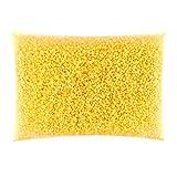 VABNEER Pellets de Cera de Abeja Amarilla, 100% pura Pastillas de Cera de Abejas, Aptas para Cosmética Natural y Fabricación de Velas (1000g)