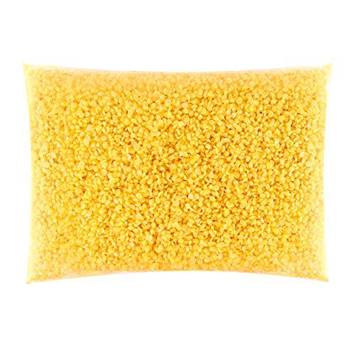 VABNEER Cera d'api Gialle, 100% Pura e Naturale Pellet di Cera di Candela, Adatte per Cosmetici Naturali e Candele (200g)