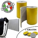 SLIMLEY - MADE IN ITALY - 2 Rotoli 2000 x 200 x 5mm - Paracolpi garage Adesivo forte + 4pz gommini adesivi GRATIS - Paracolpi auto ammortizzanti Fascia protettiva auto Protezione muro portiera auto
