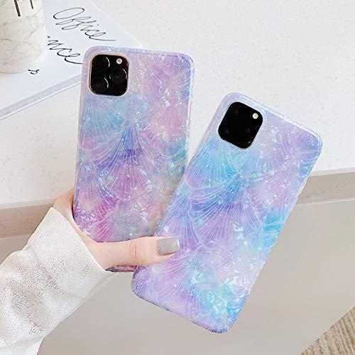 WEIYYY Caja del teléfono para iPhone X XR XS MAX 11 11 Pro MAX 6 6s 7 8 Plus Moda Colorido, Púrpura, para iPhone XS