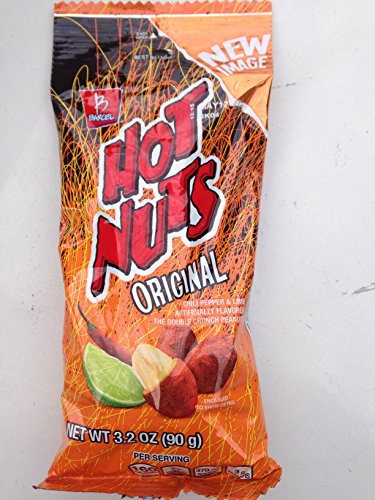 Hot Nuts Peanuts 3.17oz (Pack of 12)