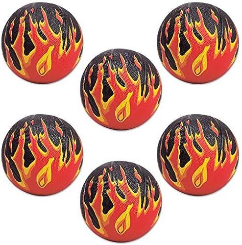Garantía 100% de ajuste Flame Flame Flame Mini Basketballs (6 pc) by Designed 2B Sweet  sin mínimo