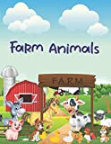 Farm Animals: Coloring Book with More than 50 Cool Animal to Color by Kids Ages 3-9