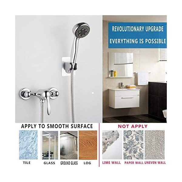 BETOY 2 pcs Soporte De Ducha, Ajustable Soporte De La Ducha Universal Soporte para Ducha Baño con Ventosa Pared Sin…