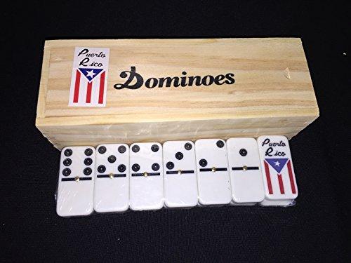 latinos r us Puerto Rico Domino Set -Flag