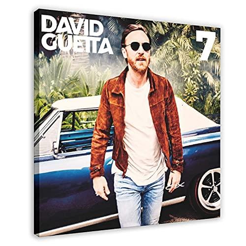 Couverture d'album de David Guetta - 7 toiles pour décoration murale - Pour salon, chambre à coucher - 60 x 60 cm
