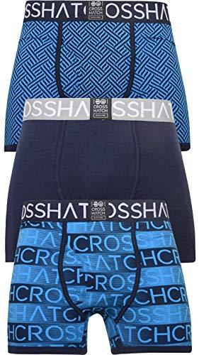 Crosshatch - Bóxers - para hombre Azul Grazer-night Sky XX-Large