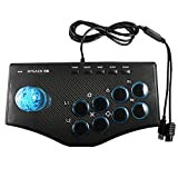 heaven2017 Universal USB Arcade Fighting Stick Joystick for PS2/ PS3/ Xbox PC Laptop TV Box