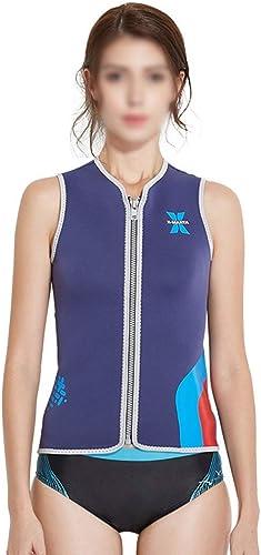 KERVINFENDRIYUN Haut Stretch 3MM Costume de plongée Femme sans Manches Snorkeling Surf vêteHommests Gilet Hiver Natation Chaude Gilet Maillot de Bain