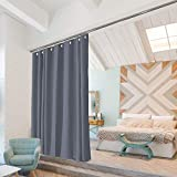 Room/Dividers/Now Ceiling Track Room Divider Kit - X-Large A, 8ft Tall x 9ft - 12ft Wide (Slate Gray)