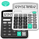 Calculator, Splaks 2 Pack Standard Functional Desktop Calculator Sola and AA Battery Dual Power Electronic...