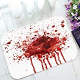 ECZJNT Blood Splatter Welcome Doormat Bath Mat Rug Entrance Rug Floor Mats 23.6x15.7 inch