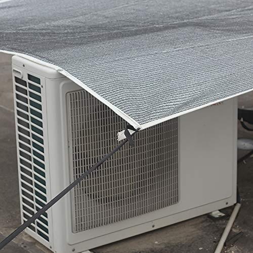 WXQIANG Los Corredores Fresca Sombra Heat Reflective Aluminet Vela/Tela/Panel/Cubierta, Tasa de Sombra: 75% Protección Solar, Aislamiento térmico. (Size : 3X4M)