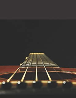 Guitar Tab Notebook: FREE BONUS: Chord Chart For Guitar | 120 Pages of Guitar and Chord Boxes | Table of Contents | Size 8.5 x 11 Inches