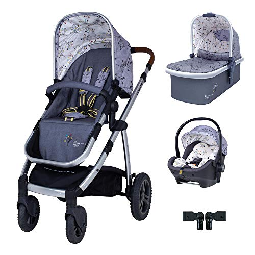 Cosatto Wow 2 Travel System Bundle in Hedgerow with RAC Port I Size car seat and Raincover