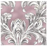 HomeLife Piumone Matrimoniale Invernale Fantasia con Foglie 250X250 | Piumone Letto Autunno/Inverno Double Face | Trapunta Matrimoniale Calda Anallergica | Piumino Microfibra Colorato | Rosa, 2P