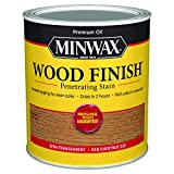 Minwax 700464444 Wood Finish Penetrating Stain, quart, Red Chestnut